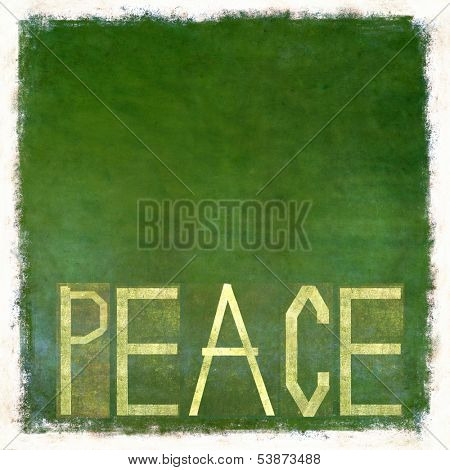 Earthy background image and design element depicting the word