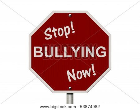 Stop Bullying Now Sign