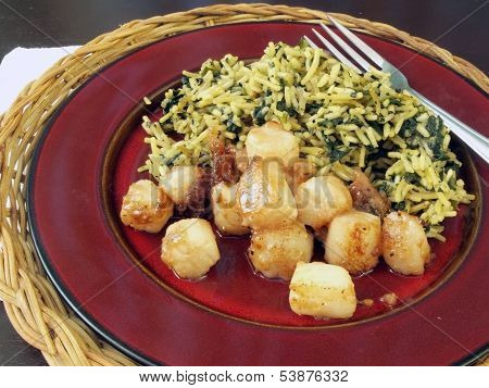 Scallops And Rice