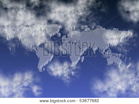 World Map On Sky