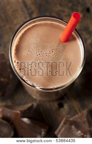 Leite com Chocolate delicioso refrescante