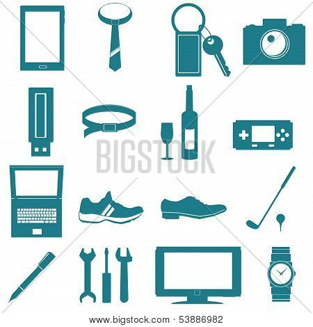 equipment for men vector