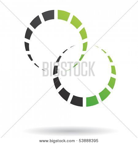 Colorful Abstract Cogs Icon