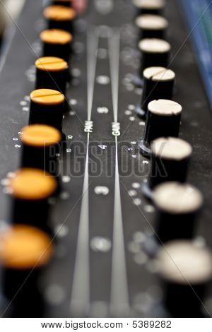 Sound Mixer, Closeup Of The Knobs