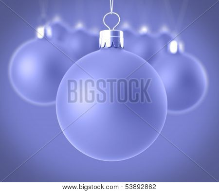 Closeup Christmas Balls
