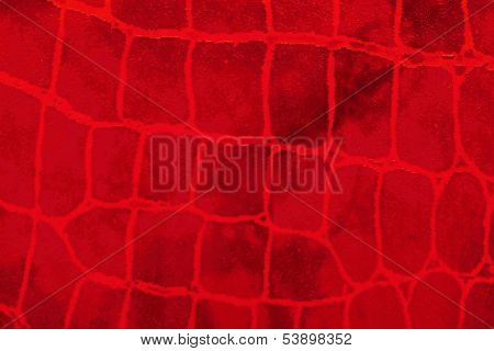 Texture Of A Large Red Indistinct Grid