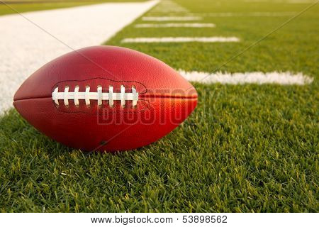 Pro Football on the Field with room for copy