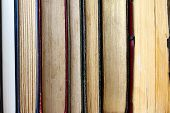 Row Of Vintage Hardcover Books