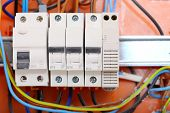 stock photo of contactor  - Electrical installation - JPG