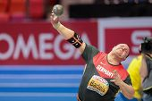 GOTHENBURG, SWEDEN - MARCH 1 Ralf Bartels (Germany) places 4th in the men's shot put final during th
