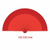 Vector Flamenco Style Fan. Design And Decoration Element