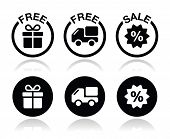 foto of free-trade  - Shopping icons set  - JPG