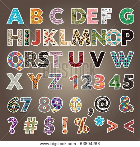 Font Vector Colorful Alphabet