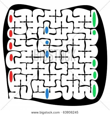 Black Square Maze With Help