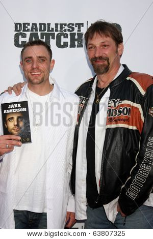 LOS ANGELES - APR 22:  Jake Anderson, Johnathan Hillstrand at the