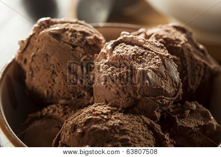 Homemade Dark Chocolate Ice Cream