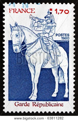 Postage Stamp France 1980 Guardsman