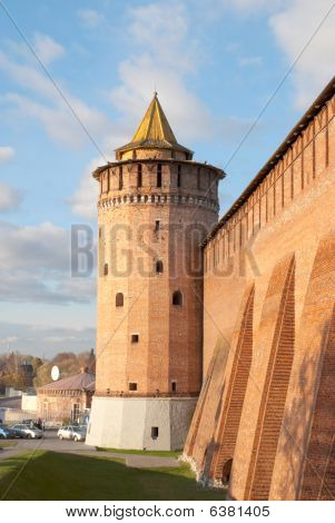 Tower Of The Kremlin In Kolomna