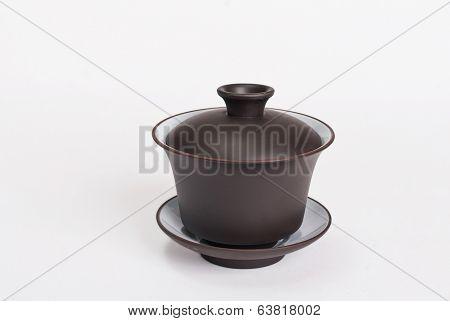 Chinese Ceramic Dark Brown Gaiwan