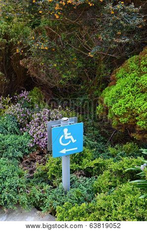 Wheelchair disability sign