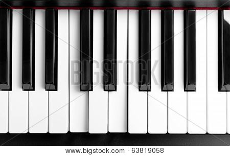 The Pressed Chord On Piano Keys