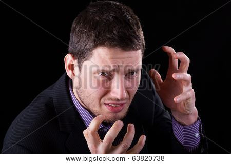 Frustrated Elegant Man