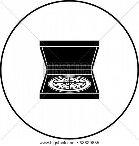 pizza in box symbol