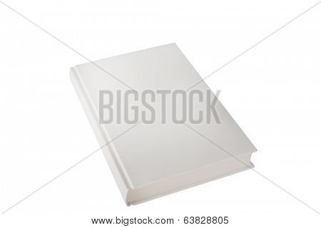 hardback book closed on white
