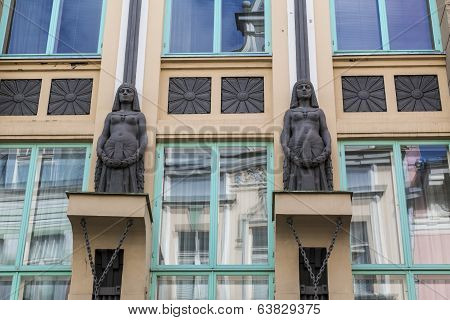 Facade Detail Art Nouveau Building Tallinn