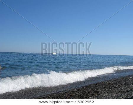 view beach of sea