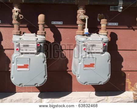 Exterior Wall Natural Gas Consumption Meters