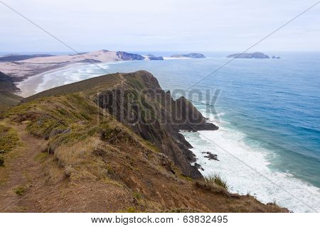 Northland Sand Beach Near Cape Reinga New Zealand