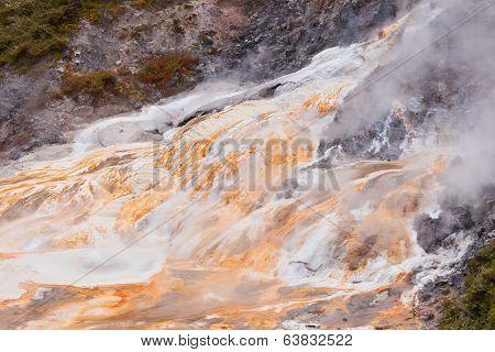 Geothermal Geyser Spring Orakei Korako New Zealand