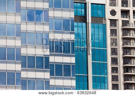 Modern Glass-walled Highriser Building Facade
