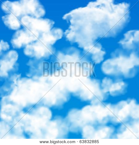 Sky clouds seamless pattern