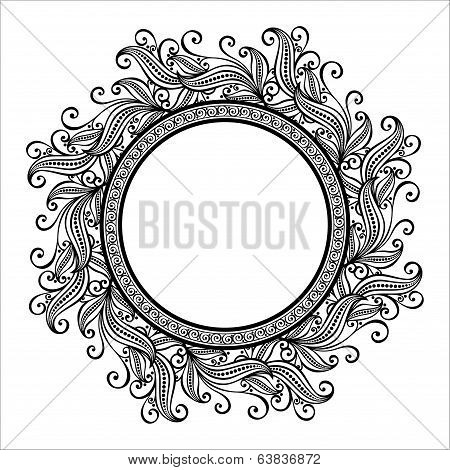 Beautiful Deco Floral Circle (Vector)