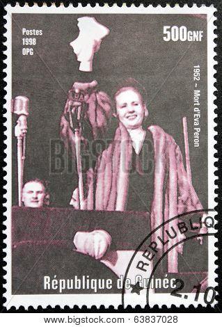 Eva Peron Stamp