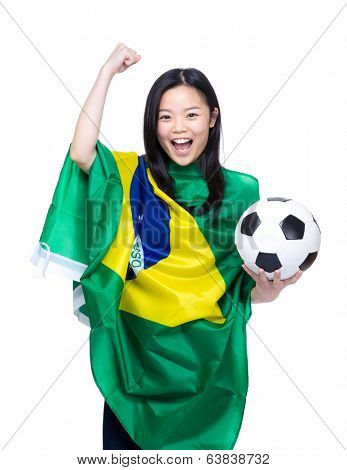 Female football supporter