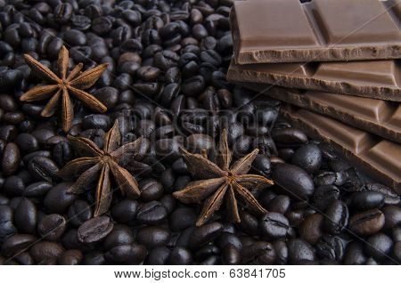 Fragrant Spices, Coffee And Chocolate