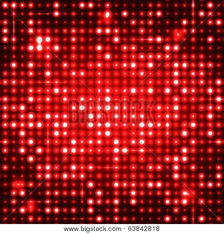 Red seamless shimmer background with shiny silver and black paillettes. Sparkle glitter techno background. Glittering sequins club screen. Abstract technology background,