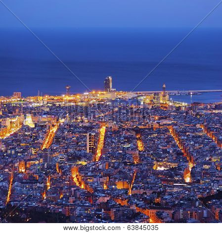 Blue Hour In Barcelona