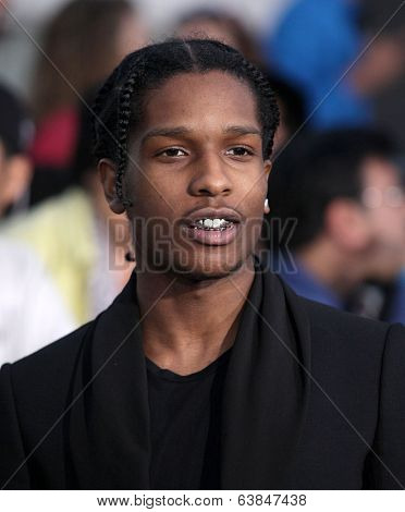 LOS ANGELES - MAR 18:  Asap Rocky arrives to the 'Divergent' Los Angeles Premiere  on March 18, 2014 in Westwood, CA