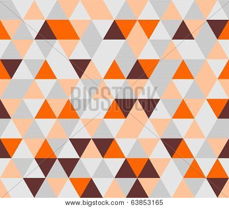 Colorful tile background vector illustration. Grey, orange, pink and chocolate brown triangle