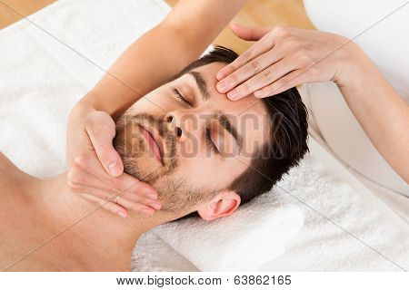 Man Getting Spa Treatment