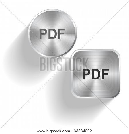 Pdf. Vector set steel buttons