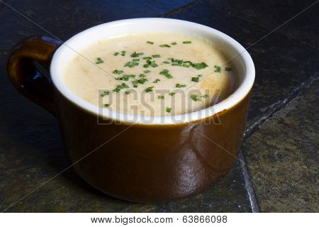 Beer Cheese Soup with Chives