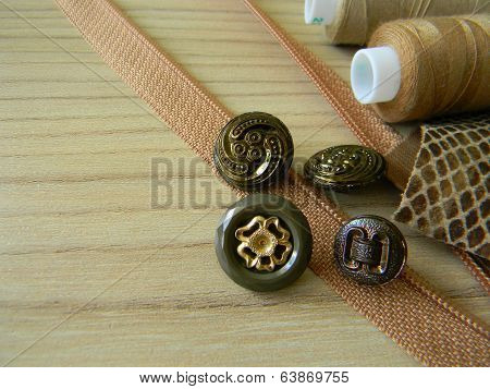 needlework. beige tone. background