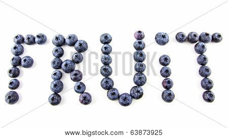 Fruit Caption Made Of Fresh Blueberries