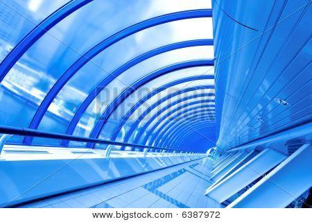 Blue Futuristic Corridor