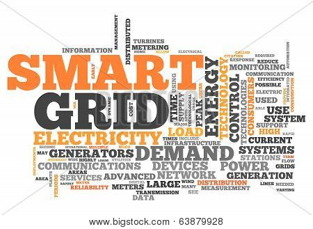 Word Cloud Smart Grid